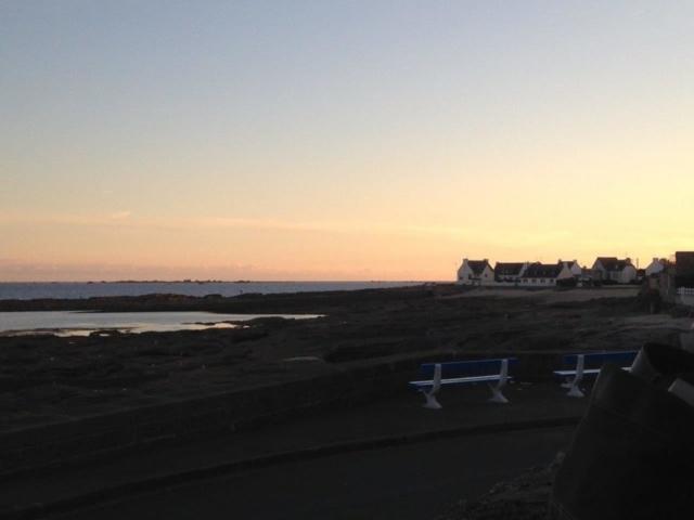 Coucher du soleil en bord de mer