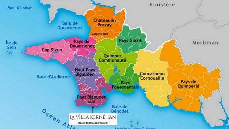 Carte de maison d'hôtes en Bretagne