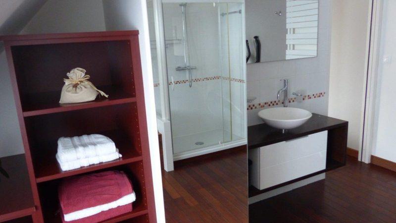 chambres d'hotes avec baignoire et douche en bretagne
